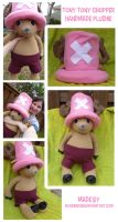 Tony Tony Chopper Plushie by rockinrobin