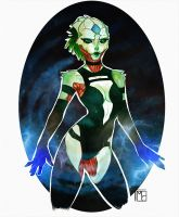 .Female Drell. by lunaticenigma