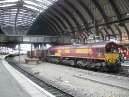 Class 66 Appears in York by rlkitterman