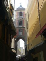 Naples Alleyway Speed paint by SeniorJ