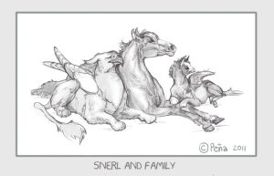 Snerl and family by Reptangle