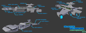Galactic Incursions Destroyer starship (Blender) by Luckymarine577