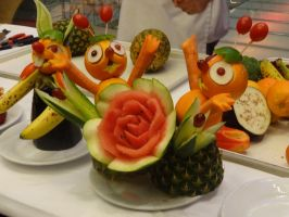 Fruit Carvings by Pixeice