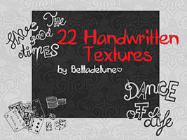 22 Handwritten Textures by zakurographics