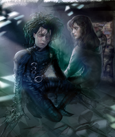 Edward Scissorhands and Moira by Easabellina