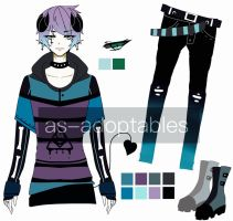 PUNK demon boy adoptable CLOSED by AS-Adoptables