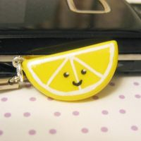lemon slice phone charm by coonies