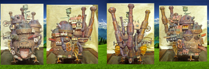 Howls Moving Castle Papercraft by Dreamparacite