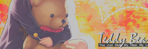 Teddy Bear Hug Signature Banner By Me by Laurello7