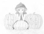 Pumpkin Girl Halloween 2012 by Zefierzalotz