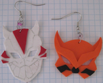 Young Justice Tigress and Cheshire Earrings by puppy-lou