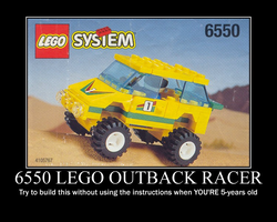 Lego Outback Racer Motivational by Sephirath21000