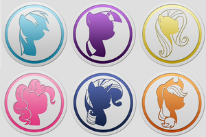 Mane 6 Icon Pack by Northwestcore