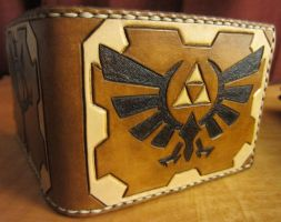 Legend of Zelda Hylian Crest Leather Wallet by Kaje202