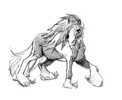 Horse Study by Pentoculus