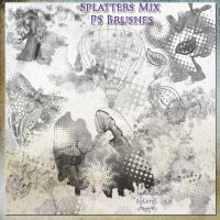 Splatters mix brushes by libidules
