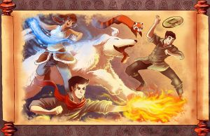 legend of korra fanart by michellescribbles