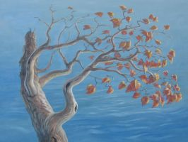Branch and Water and Leaves by Silas-Higgle