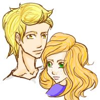 Jace and Clary by rudiroo