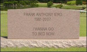 RIP Frank Anthony Iero by onegothicromance