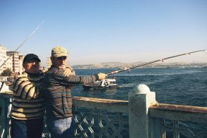 Golden Horn fishers by for-the-victory