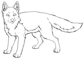 Swift Fox Lineart A by Pred-Adopts