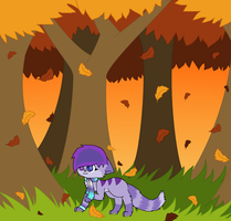 falling leaves by Violetkay214