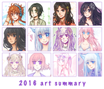 2016 art summary by mysticsaku