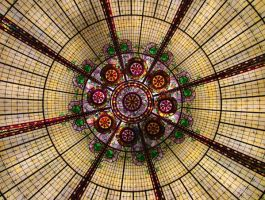 Stained Glass Dome by kessalia