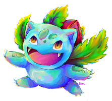 #002 Ivysaur by Iffy-Jiffy