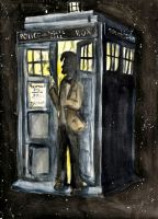 Eleven and his Tardis by oxyderces