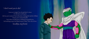 Piccolo's Farewell to Gohan by Roxi-art