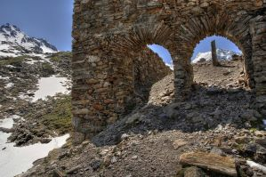 Ruins In The Mountains by Burtn