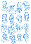 Rumble-Fest Headshots by Angry-Langman