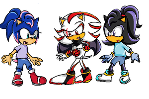 Shadow Jr and Friends by SamanthaWolfox