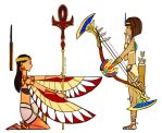 Egyptian hieroglyphs - Isis and Neith by Zennore