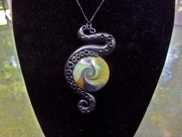 Earth Toned Tentacle Necklace by Laurenry