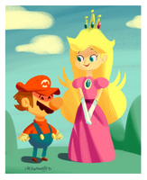 Peach and the Mario by luismario