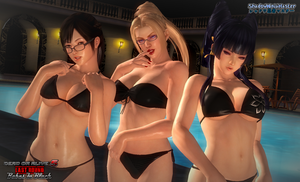 DOA5LR: Babes In Black by ShadowNinjaMaster