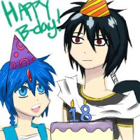 Happy b-day from the Magi! by StarKittyTheArtist