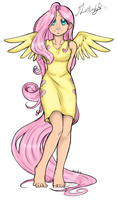 Colored-Fluttershy by James-Egbert