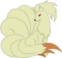 Colored Ninetales by Darkflametailz