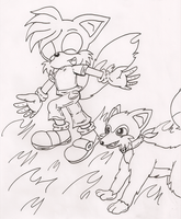 ContestPrize: Luis and Foxxy by IkaritheHedgehog