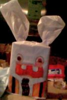 Rayman Rabbids gift wrap i did for sister by jashinist112