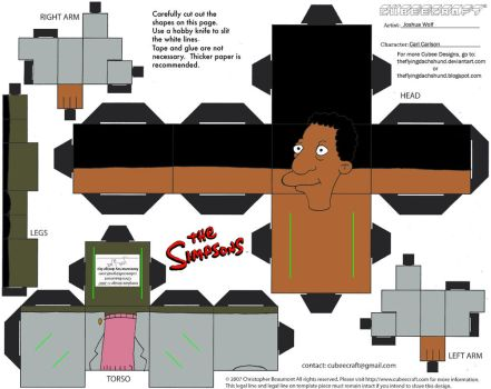 Simpsons4: Carl Carlson Cubee by TheFlyingDachshund