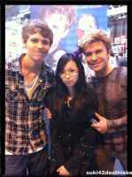 photo with Vic Mignogna and Aaron Dismuke by suki42deathlake