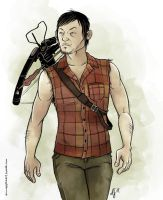 Daryl Dixon by snowapples