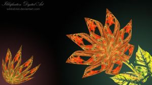 Fractal Flowers by wikkid-kid