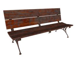 Banco de madera- Wood Bench C4D Free model by The-Ronyn