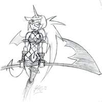 Daily Sketch 8: Kneesocks by ReluctantZombie